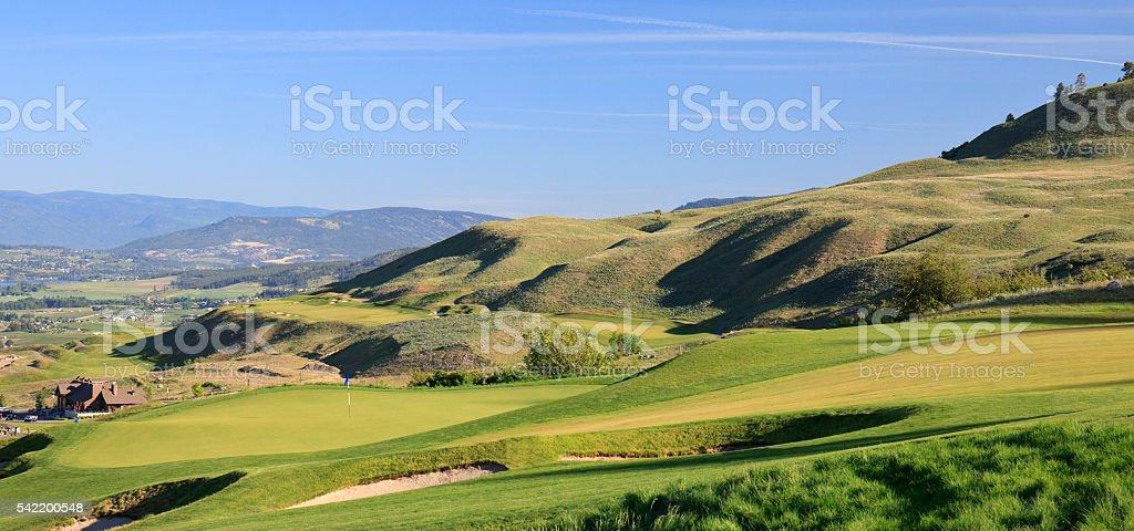 Beautiful Golf Green in Thompson Okanagan stock photo