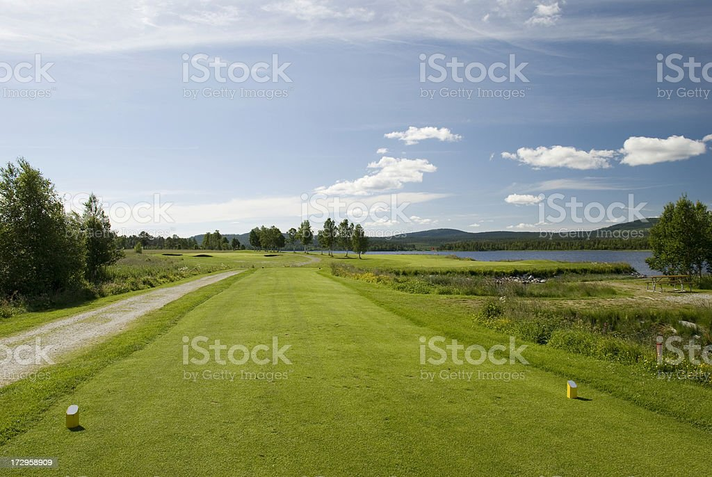 Beautiful golf park royalty-free stock photo