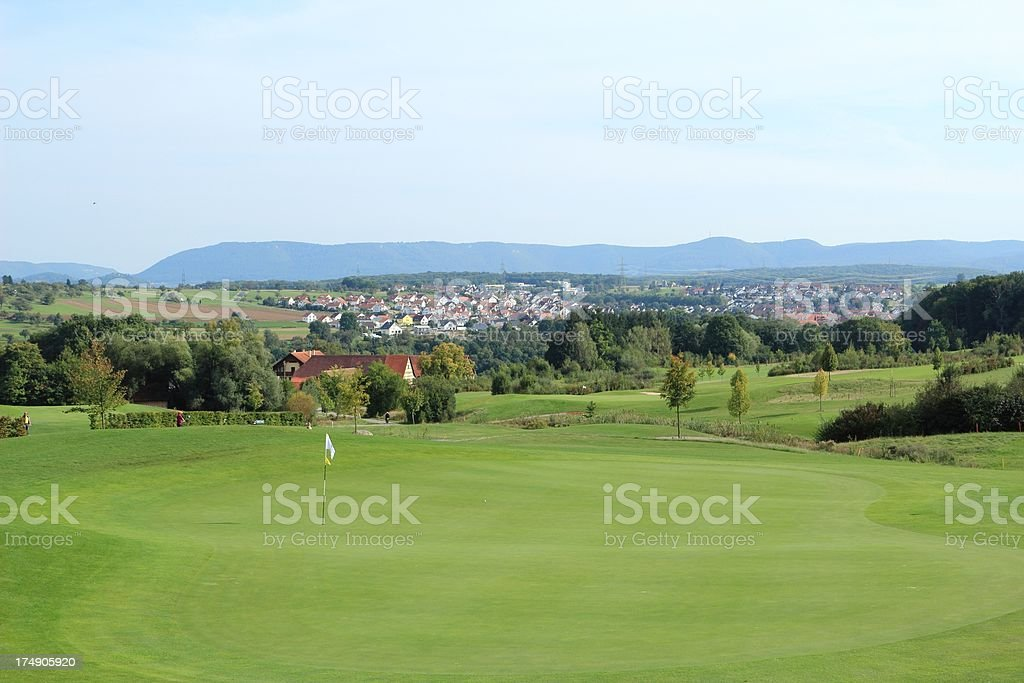 Beautiful golf park royalty-free stock photo