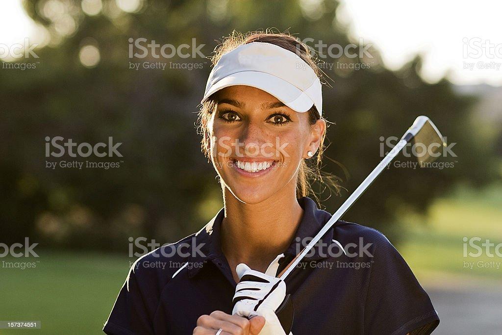 Beautiful Golfer stock photo