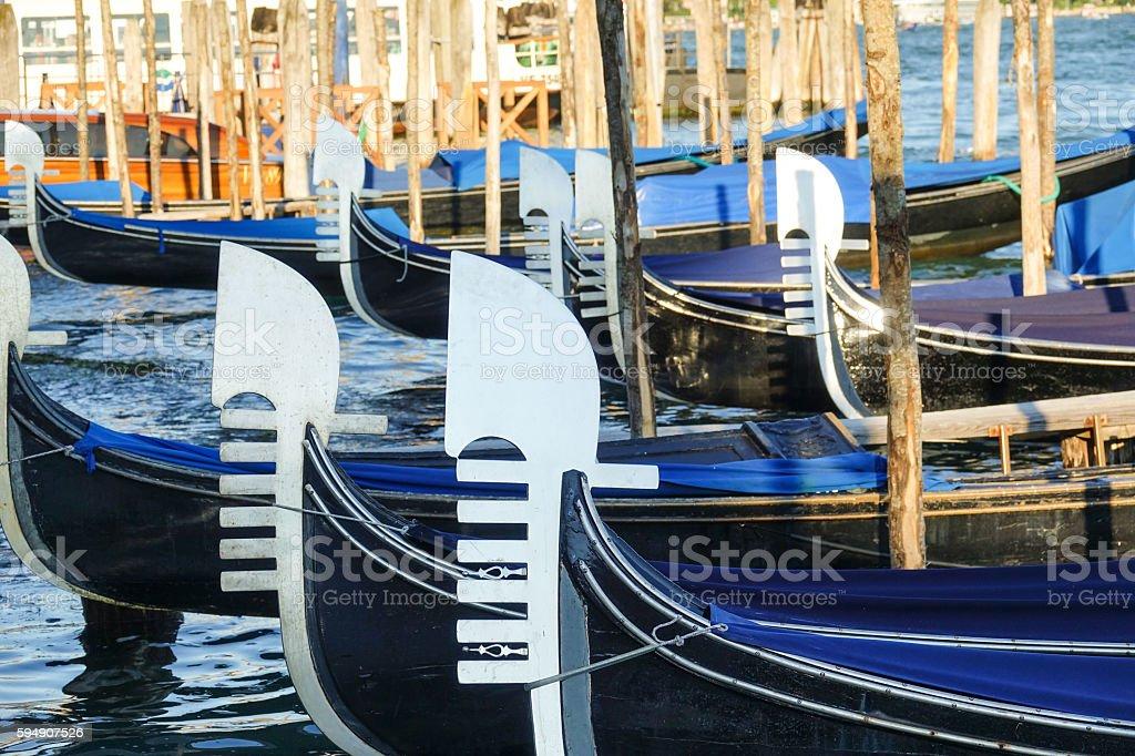 Beautiful gondolas in the canals ov Venice Lizenzfreies stock-foto