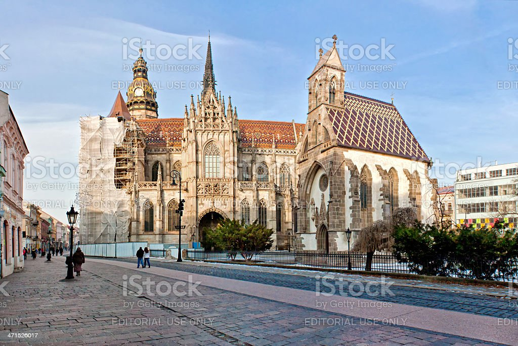 Beautiful gothic church in Kosice stock photo