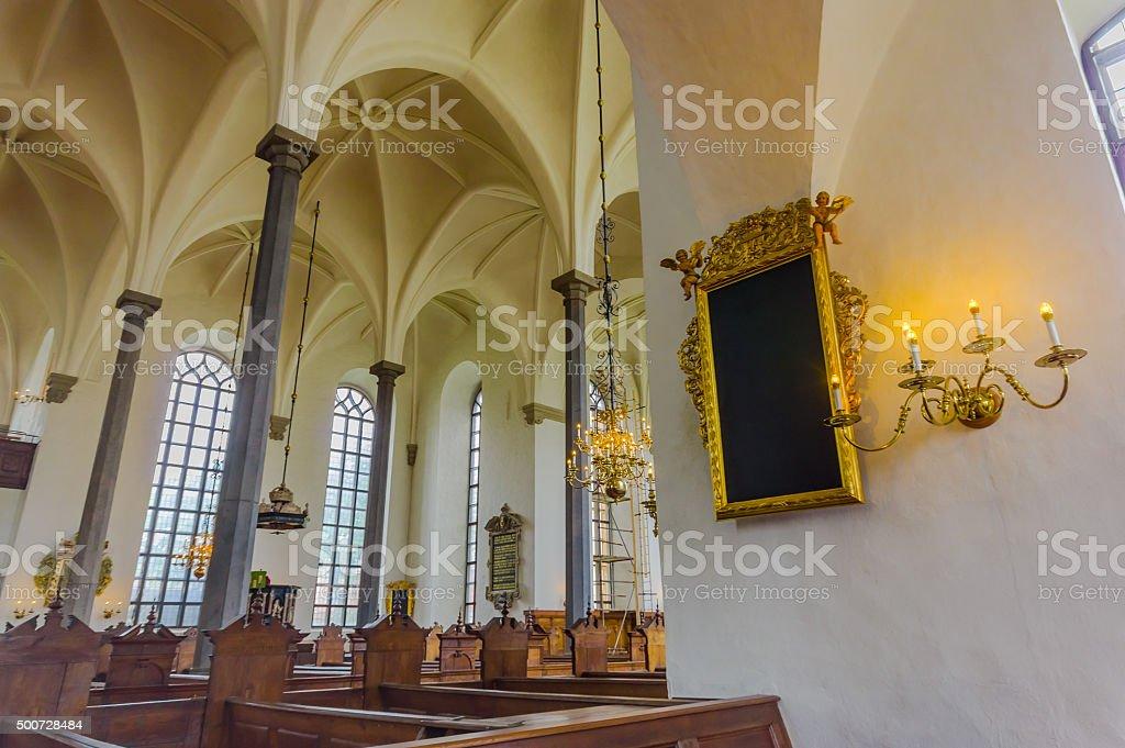Beautiful gothic church in Kristianstad, Sweden stock photo
