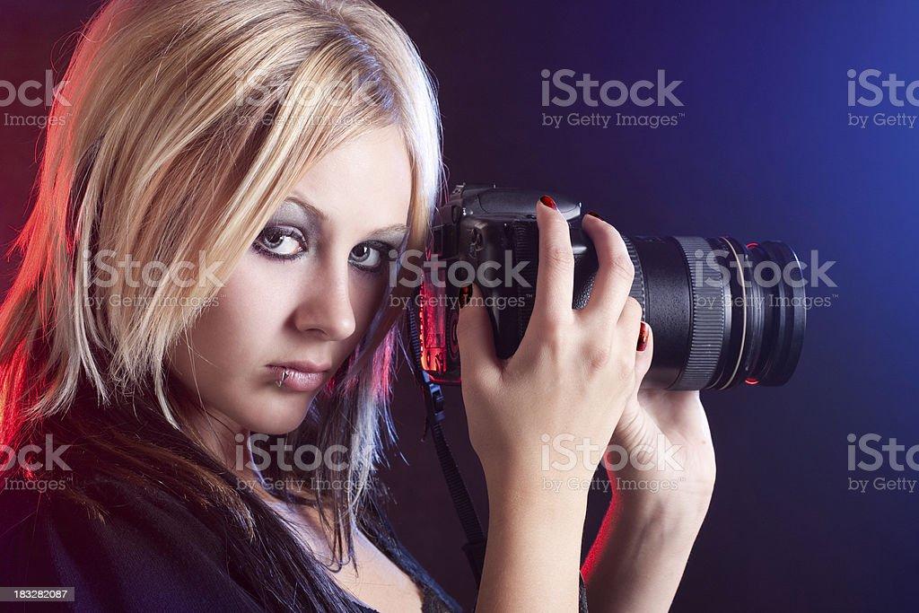 Beautiful Gothic Style Photographer royalty-free stock photo