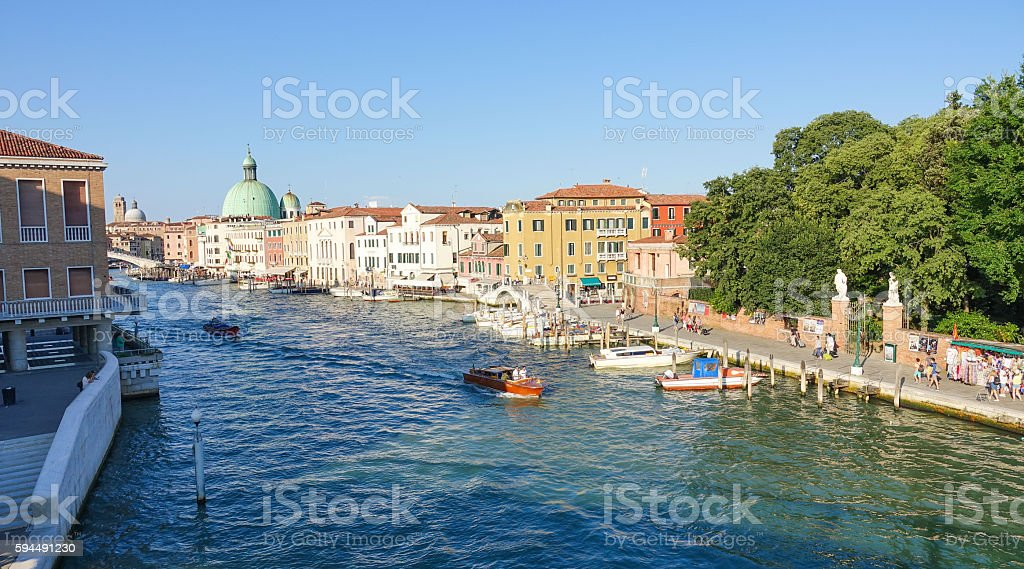 Beautiful Grand Canal in Venice - Canale Grande Lizenzfreies stock-foto