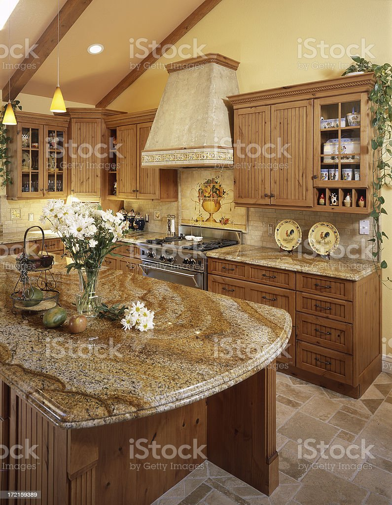 Beautiful Granite Kitchen Countertop royalty-free stock photo