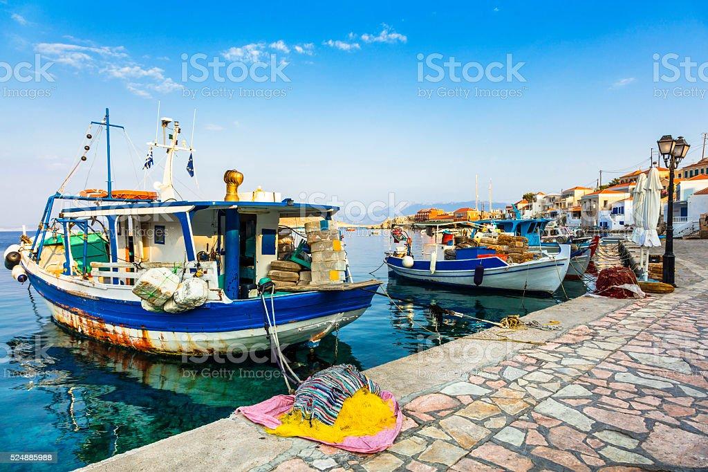 Beautiful Greece,Chalki Island. stock photo