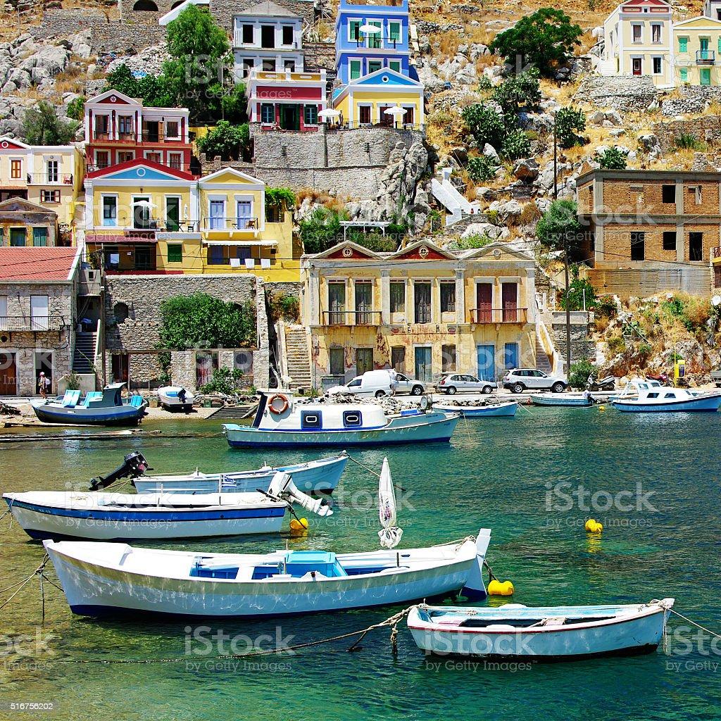 Beautiful Greece,Symi Island. stock photo