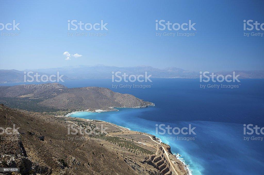 Beautiful Greek bay royalty-free stock photo