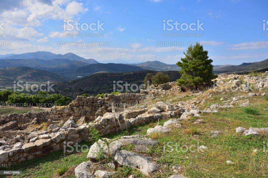 Beautiful greek landscape, Greece stock photo