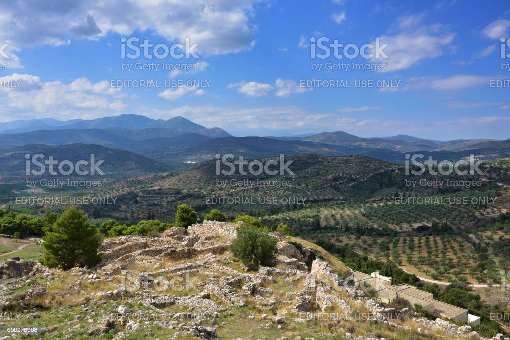 Beautiful greek landscape. stock photo