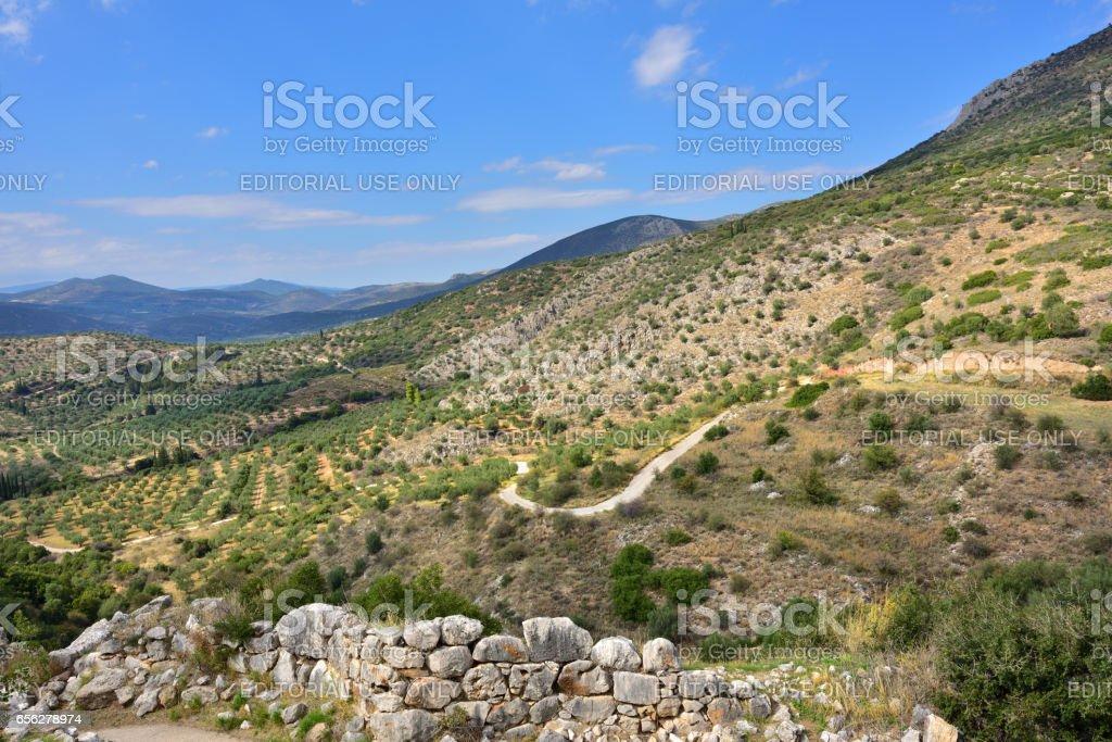 Beautiful greek landscape stock photo