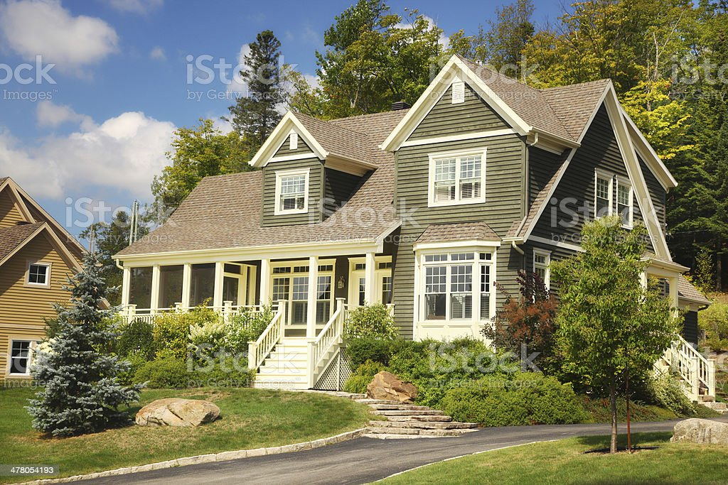 Beautiful Green Countryside House stock photo