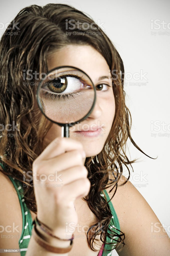 beautiful green eye stock photo