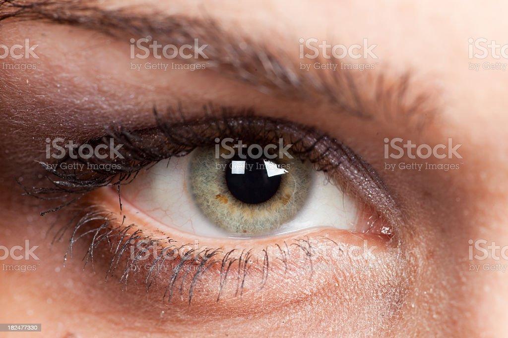 Beautiful Green Eye-Sexy stock photo
