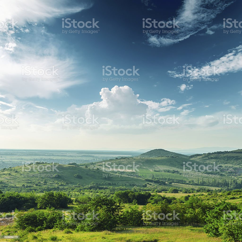 beautiful green mountain landscape in Carpathians stock photo
