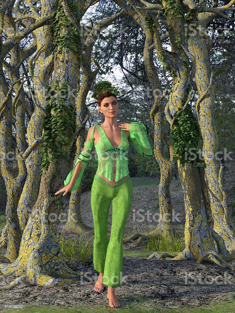 Beautiful Green Nymph stock photo