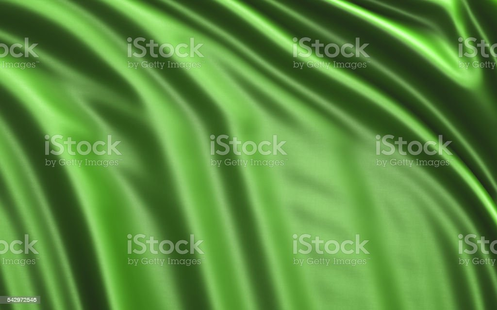 Beautiful Green Silk Background stock photo