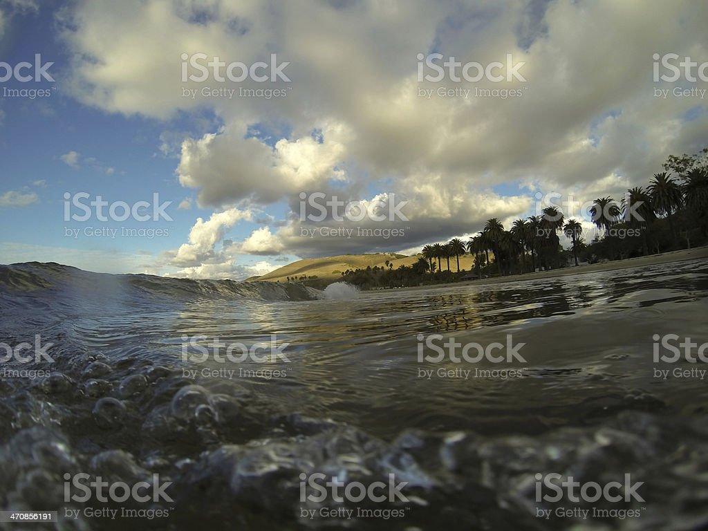 Beautiful Green Wave stock photo