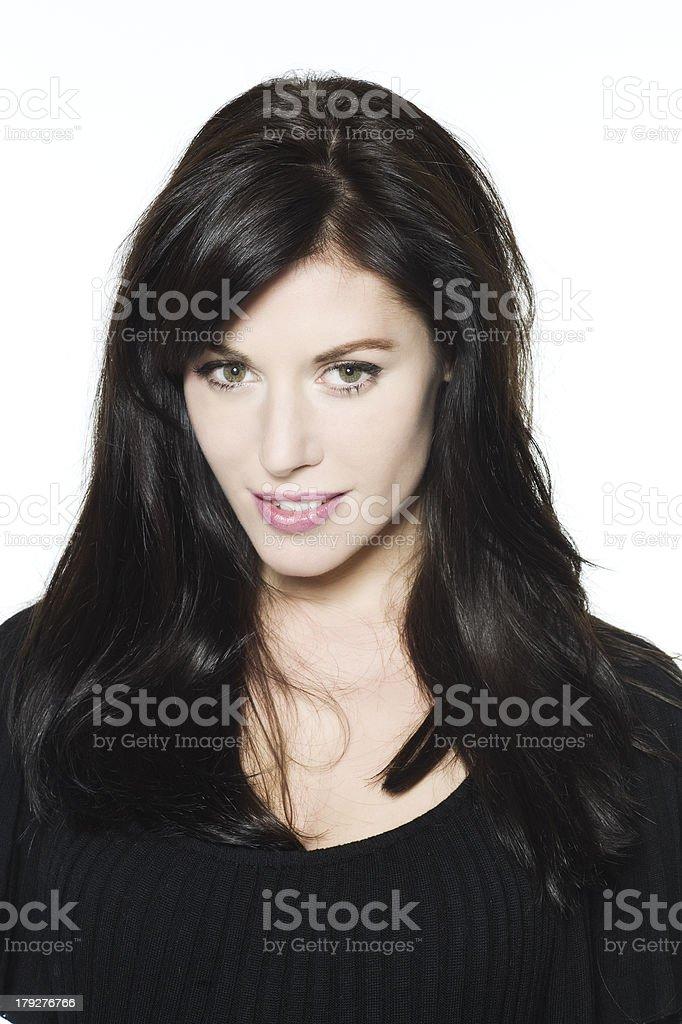 beautiful gren eyes caucasian woman seductress stock photo