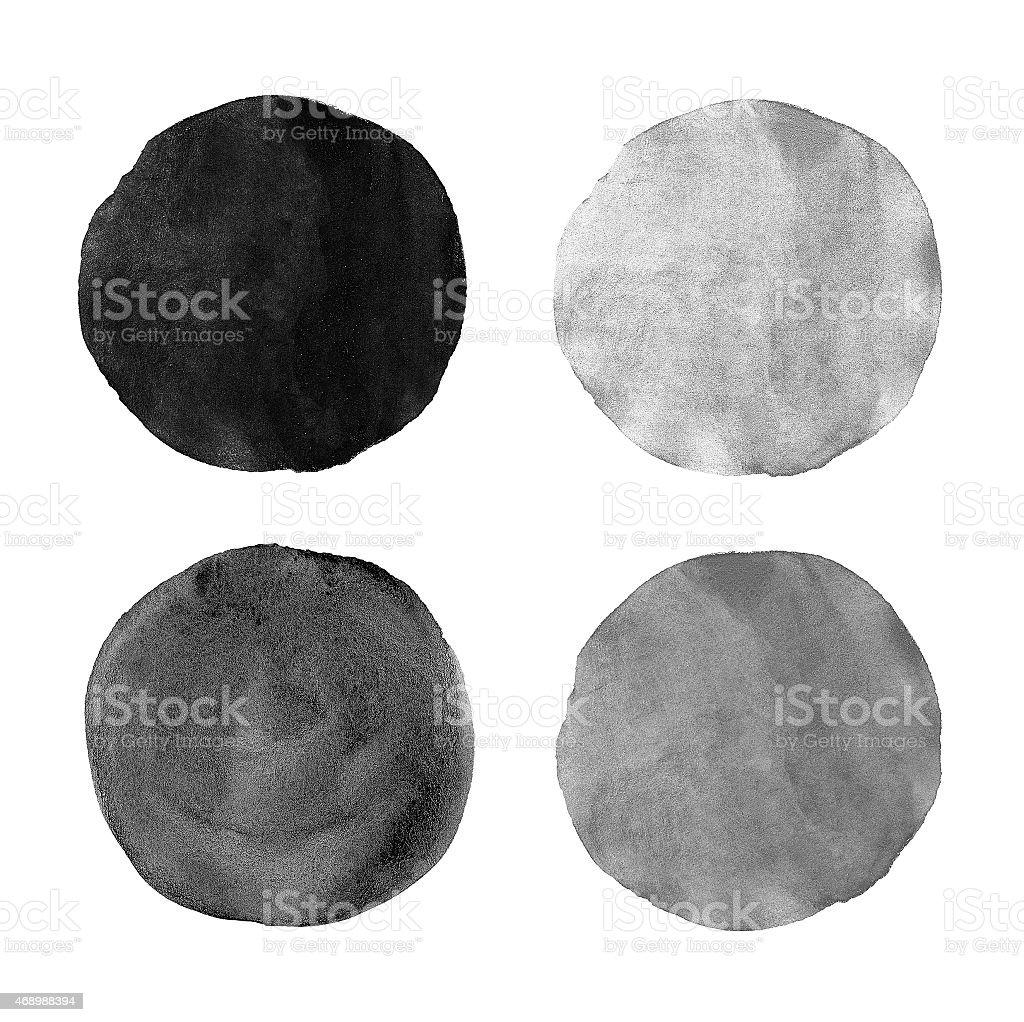 Beautiful grey watercolor design elements stock photo