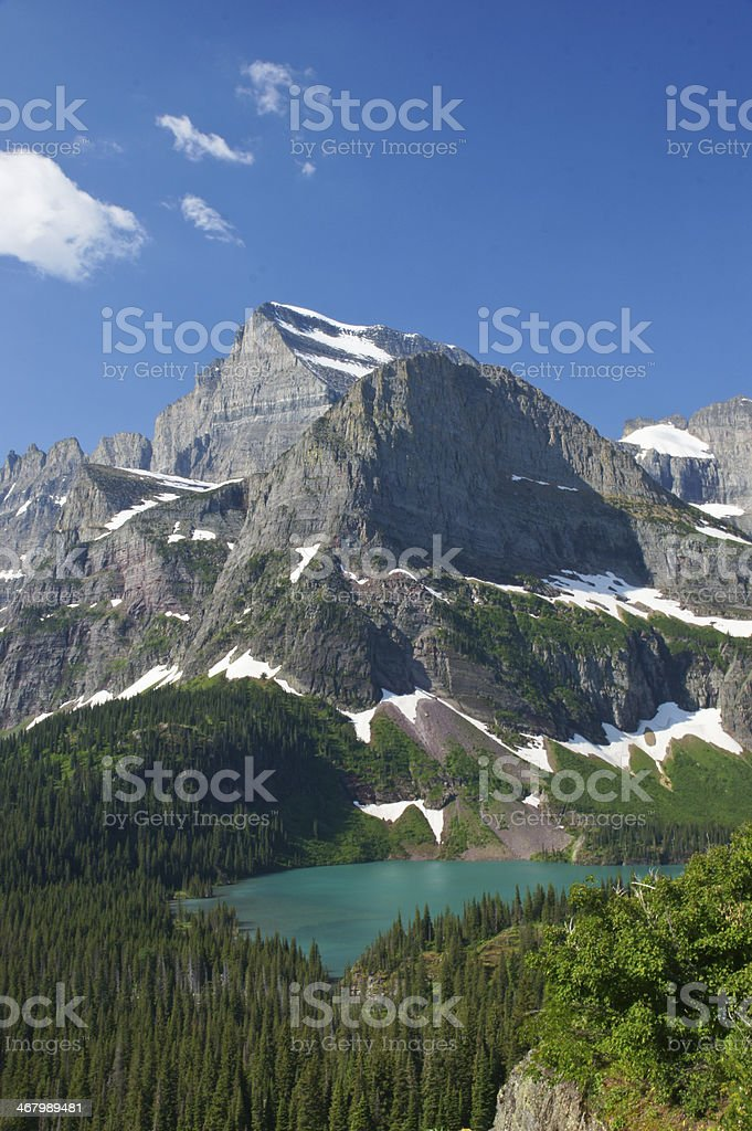 Beautiful Grinnell Lake stock photo