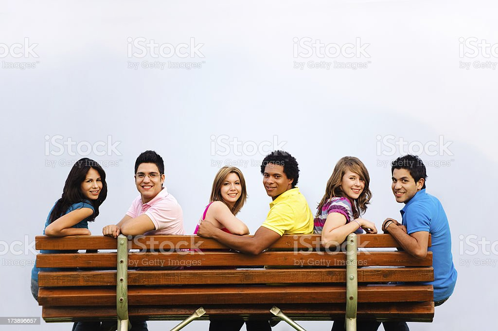 Beautiful group of friends royalty-free stock photo