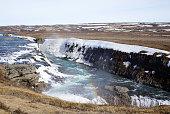 Beautiful GULLFOSS waterfall in Iceland