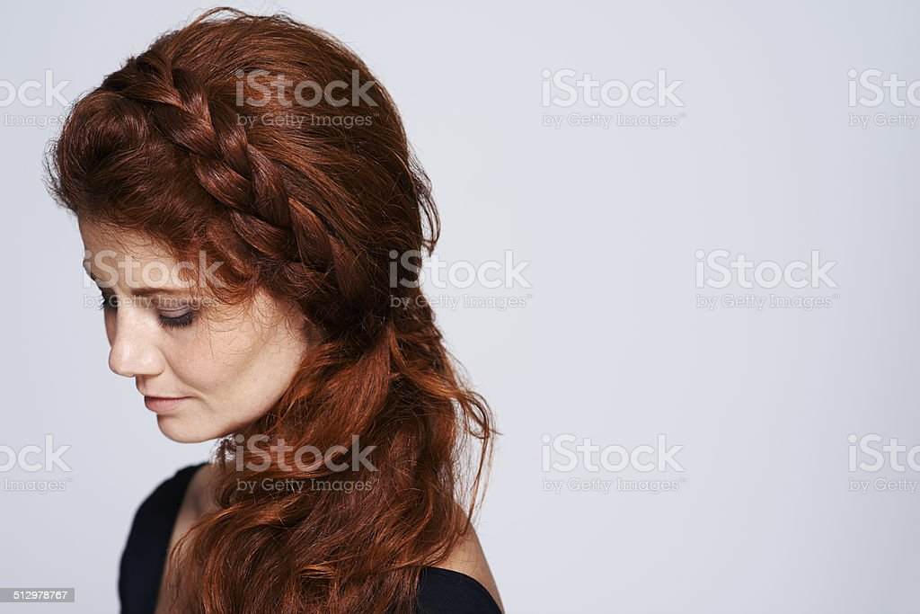 Beautiful hair fit for a princess stock photo