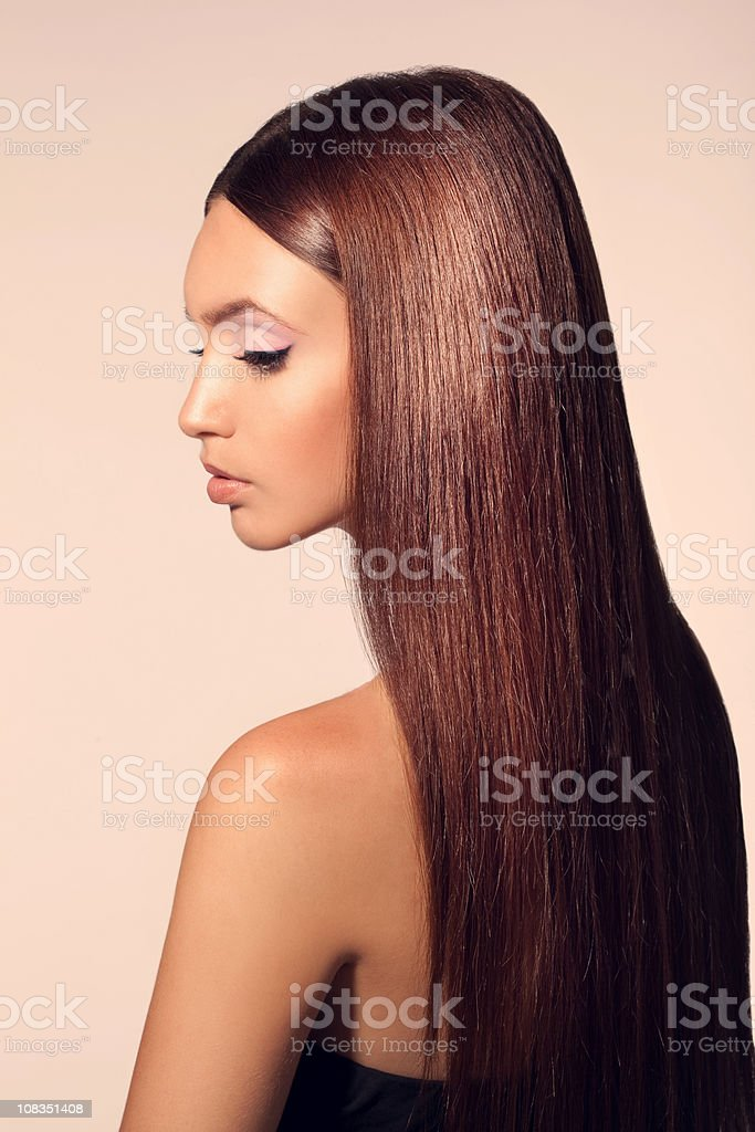 Beautiful hair royalty-free stock photo