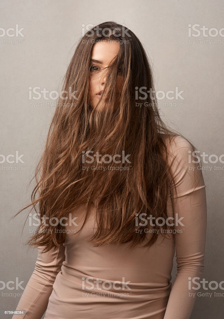 Beautiful hair should never be hidden stock photo