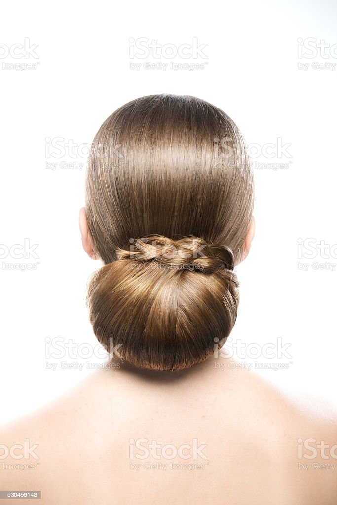 Beautiful hairstyle stock photo