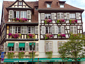 Beautiful half-timbered house in the old town of Strasbourg, Alsace