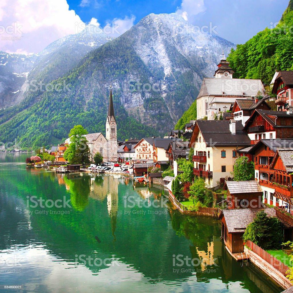 Beautiful Hallstatt,Austria stock photo