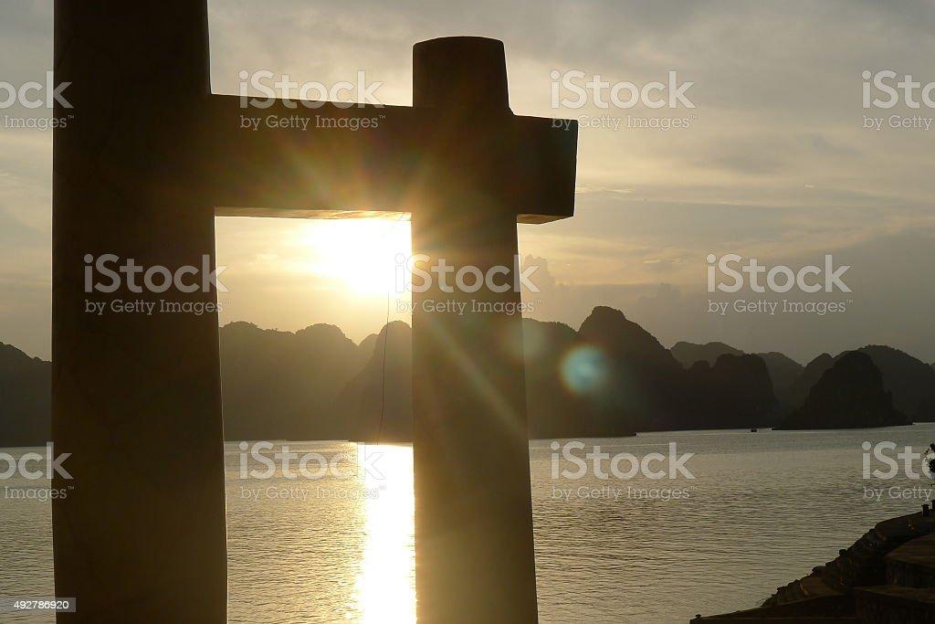 Beautiful Halong Bay stock photo