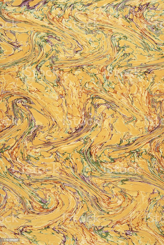 Beautiful hand marbled paper royalty-free stock photo