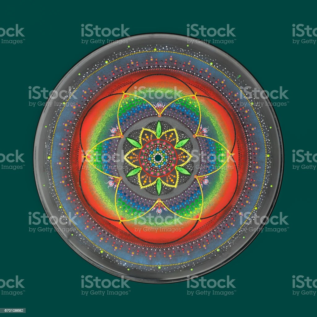 Beautiful hand painted mandala stock photo
