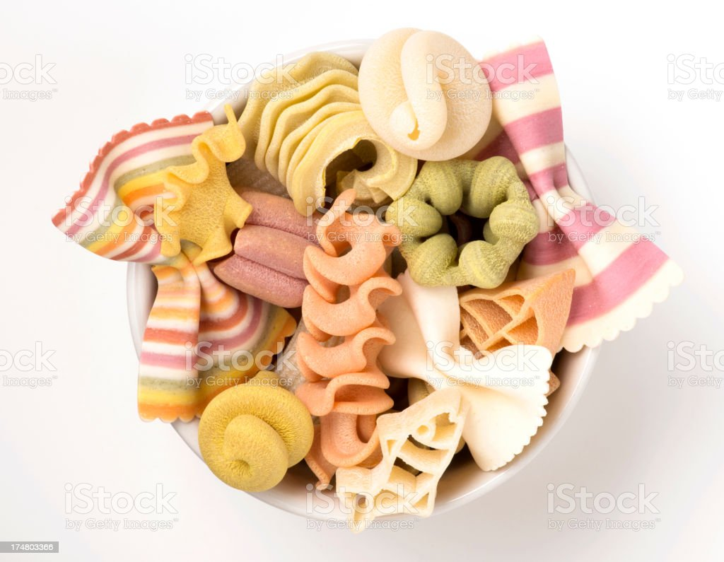 Beautiful handmade colorful pasta royalty-free stock photo