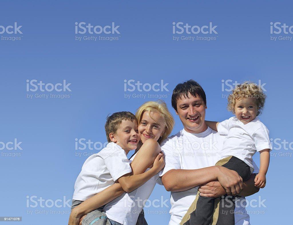 Beautiful happiness family. Series royalty-free stock photo