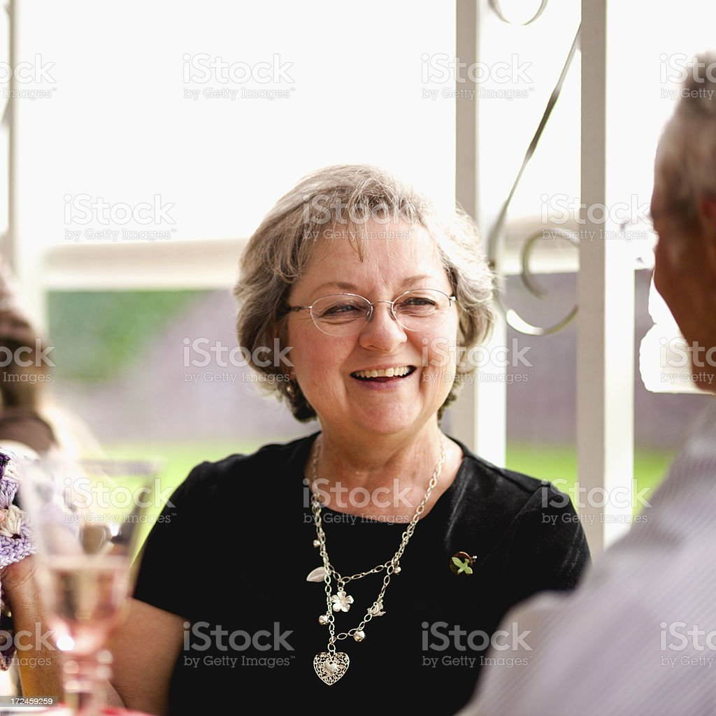 Beautiful Happy Elderly Woman stock photo