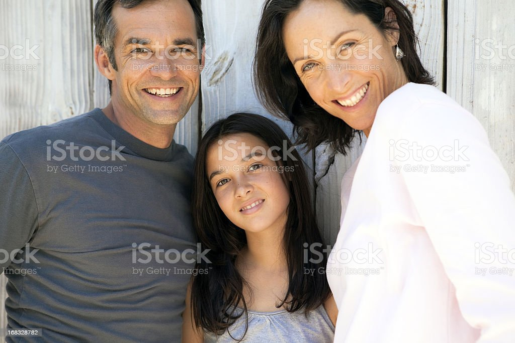 Beautiful happy Family with one child royalty-free stock photo