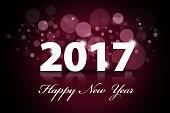 Beautiful Happy New Year 2017 illustration
