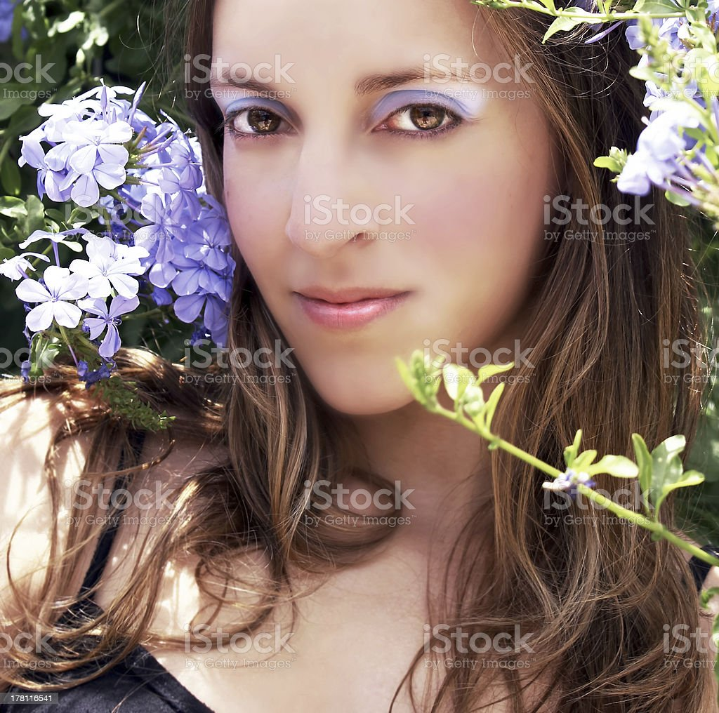 Beautiful happy woman stock photo