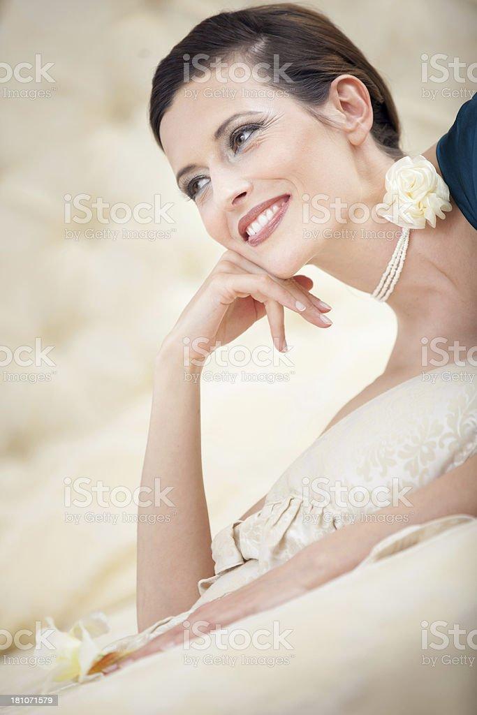 Beautiful happy woman portrait royalty-free stock photo