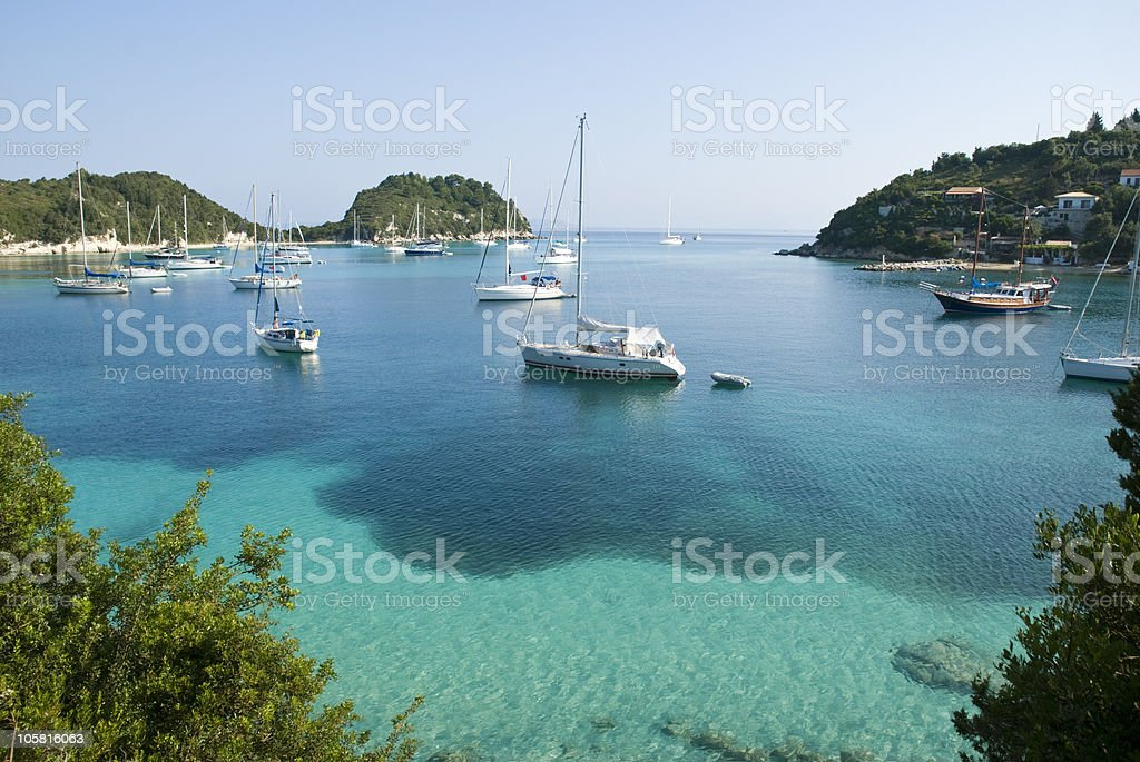 Beautiful Harbour i Greece royalty-free stock photo