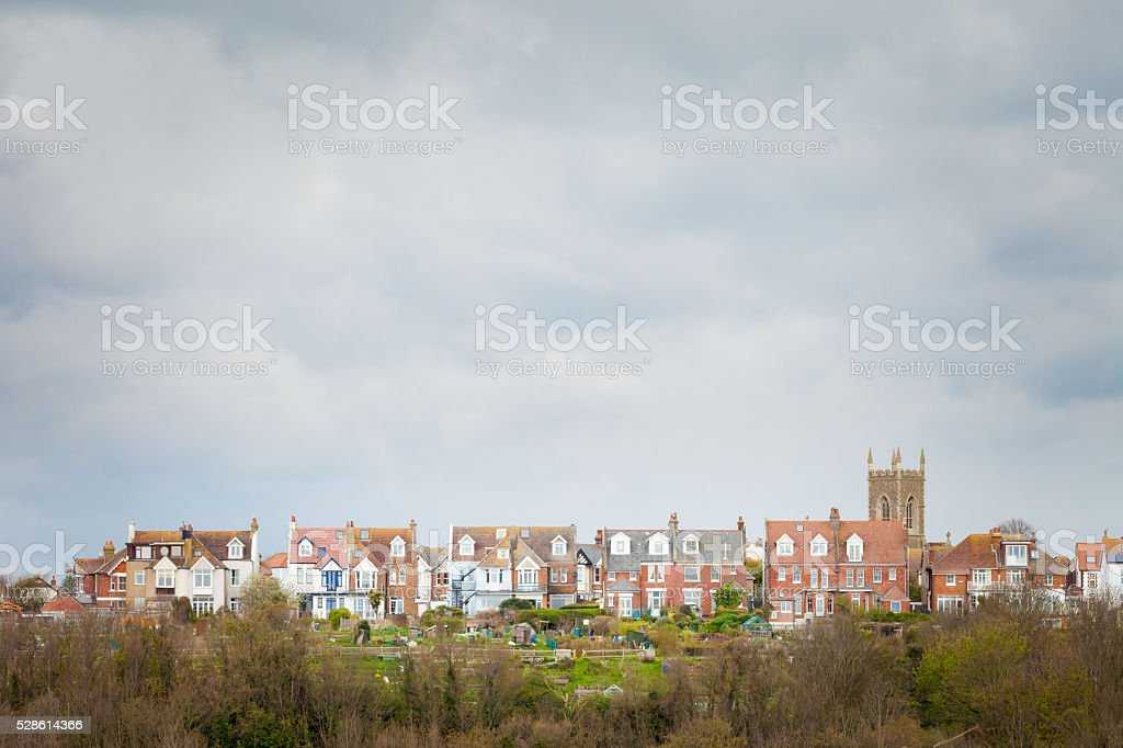Beautiful Hastings cityscape in England stock photo