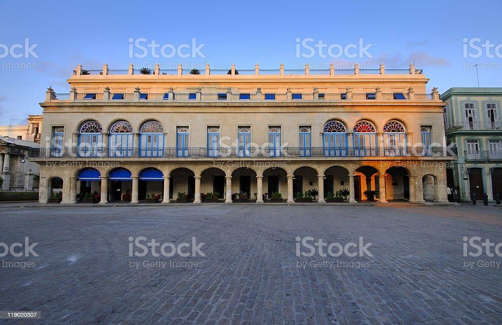 Beautiful havana building, cuba stock photo