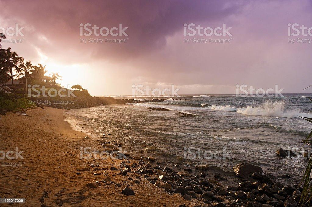 Beautiful Hawaiian Sunset stock photo