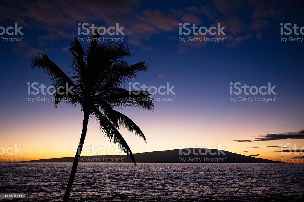 Beautiful Hawaiian Sunset royalty-free stock photo