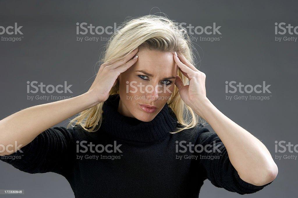 beautiful headache royalty-free stock photo